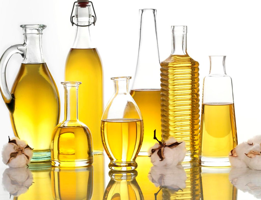 oils in different containers